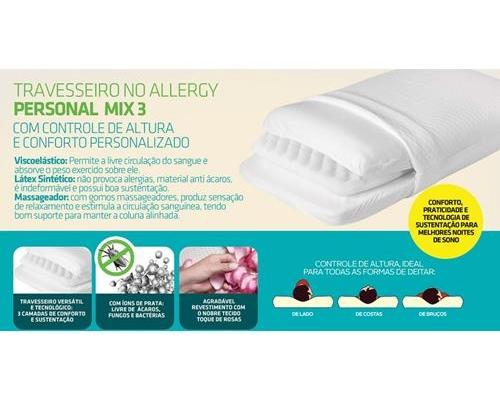 Travesseiro No Allergy Personal Mix 3
