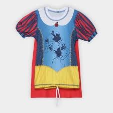 Camiseta Infantil Uv Line Acqua Branca de Neve Feminina